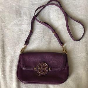 Purple Tory Burch crossbody bag
